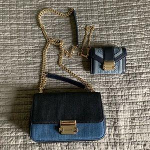 Michael Kors Denim Purse /w Matching Wallet